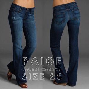 Paige Laurel Canyon boot cut jeans.  Size 26